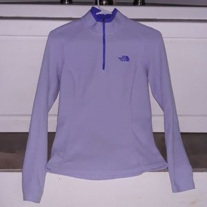 The North Face Purple Fleece Pull Over Size Small